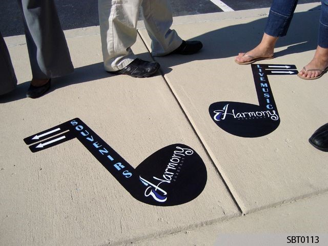 Jazz Festival Outdoor Floor Graphics