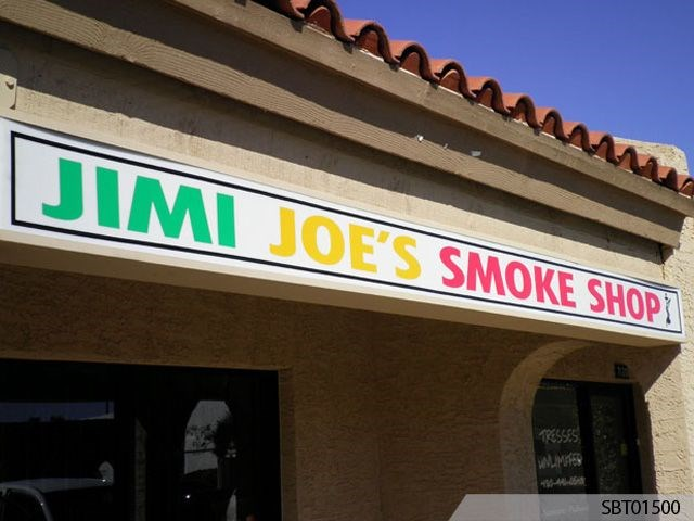 Smoke Shop Outdoor Lightbox Display