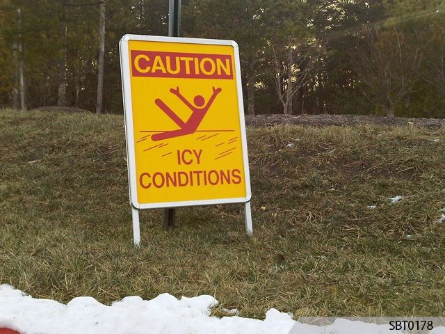 Icy Condition Warning Sign