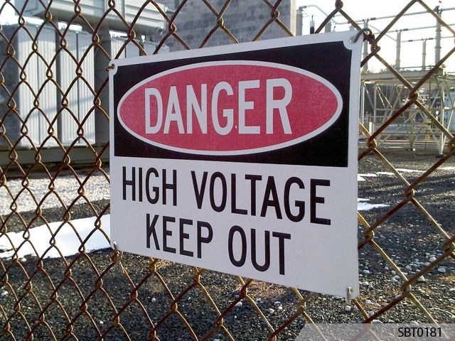 High Voltage Warning Sign