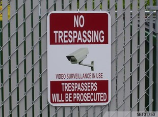 No Trespassing Custom OSHA Sign