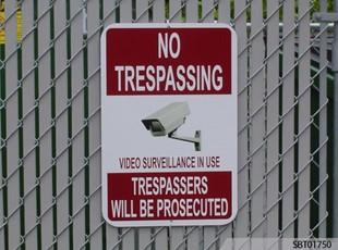 No Trespassing Custom OSHA Sign