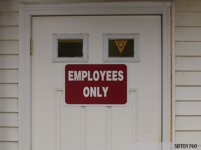 Employees Only Custom Warning Sign