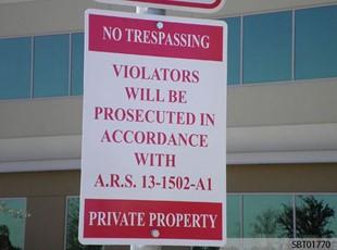 Custom Warning Parking Sign
