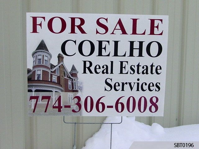 Real Estate Plastic Stake Sign