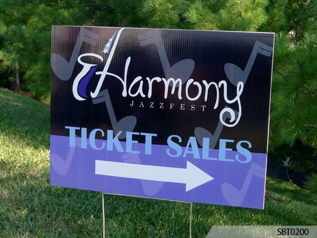 Jazz  Festival Directional Plastic Stake Sign