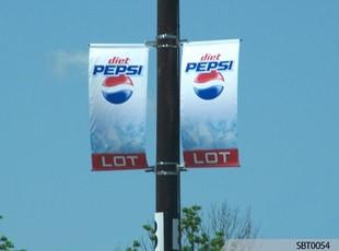 Pepsi Parking Lot Pole Banners