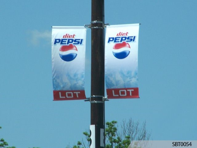 Pepsi Parking Lot Pole Banners