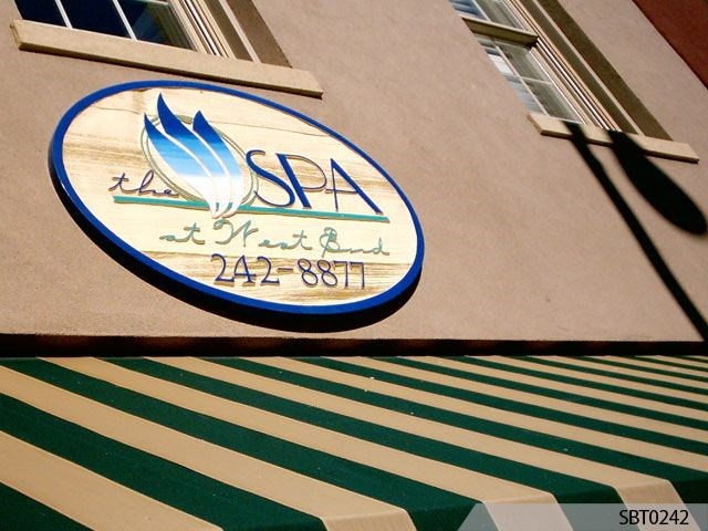 Spa Routed & Sandblasted Exterior Sign