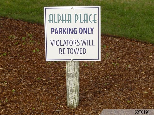 Property Management Parking Sign