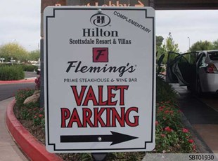 Hilton Custom Parking Sign