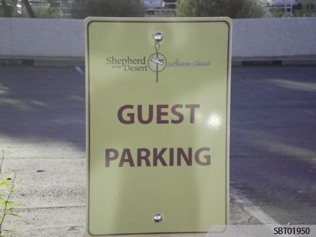 Church Custom Parking Sign
