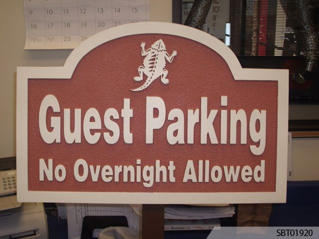 Sandblasted Custom Parking Sign