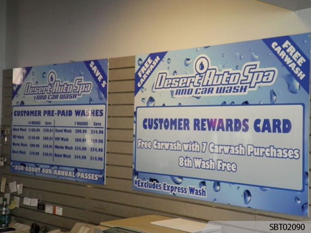 Car Wash Custom POP Display