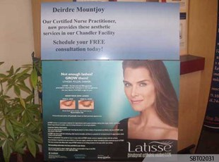 Latisse Custom Point of Purchase Display