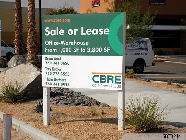CBRE Post and Panel Sign