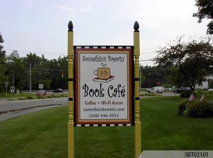 Cafe Custom Post and Panel Sign