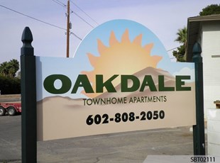 Oakdale Custom Post and Panel Sign