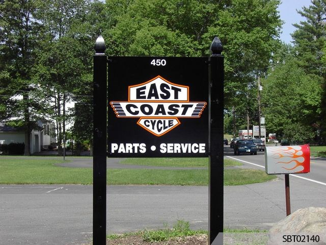 East Coast Cycle Custom Post and Panel Sign