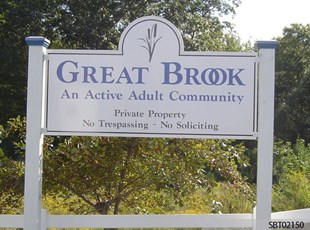 Great Brook Custom Post and Panel Sign