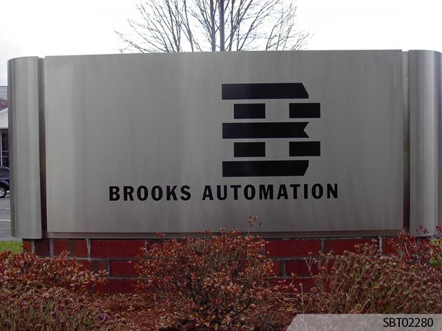 Brooks Automation Custom Pylon Sign