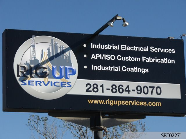 Rig Up Services Custom Pylon Sign