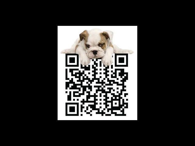 Unique QR Code with Puppy