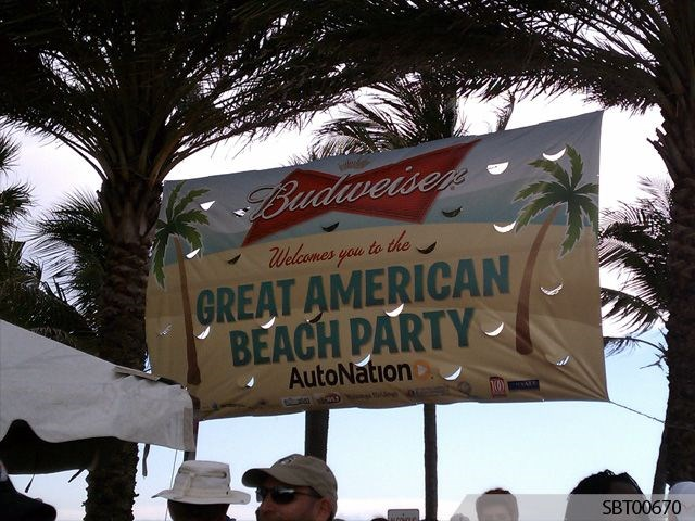 Budweiser Beach Party Custom Banner