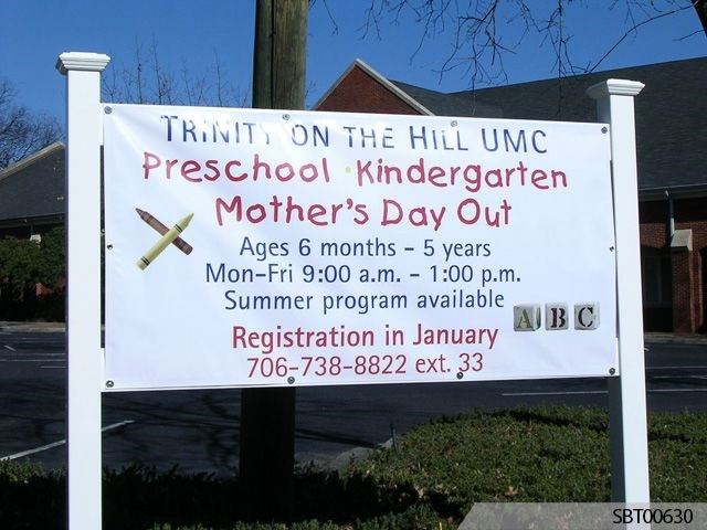 Preschool Outdoor Custom Banner