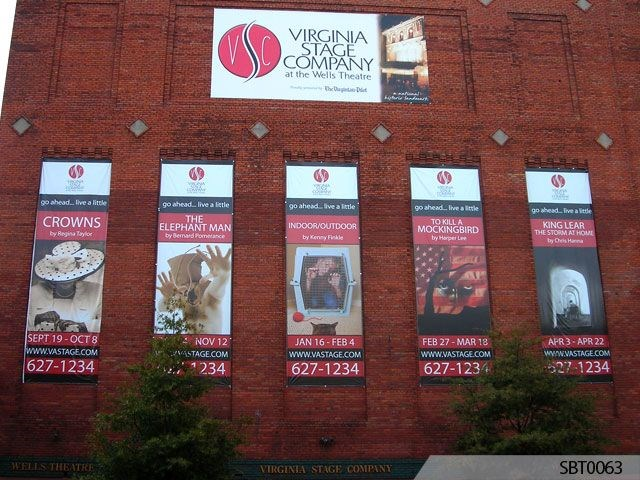 Stage Company Promotional Vinyl Banners