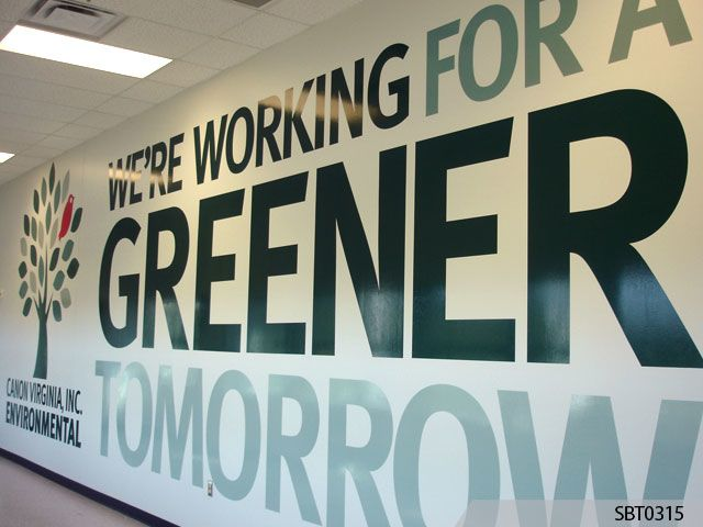 Canon Green Wall Graphics