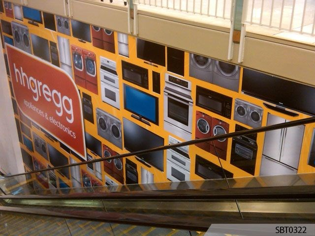 HHGregg Escalator Interior Wall Wrap
