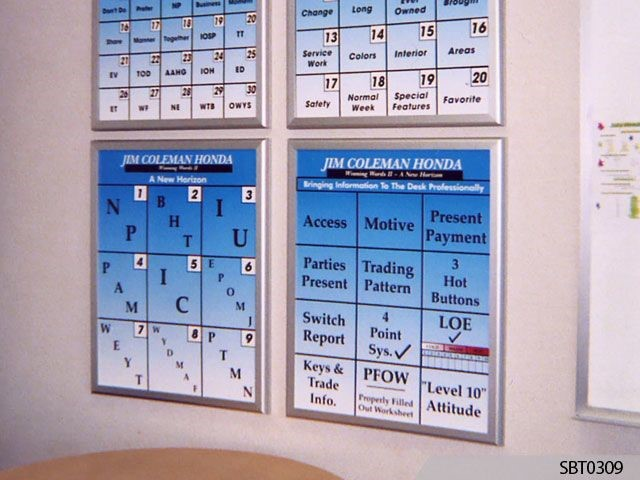 Auto Dealer Wall Frame