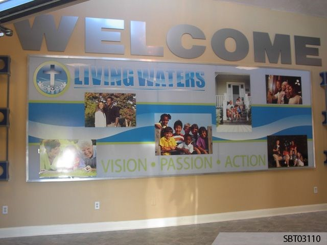 Custom Welcome Center Wall Frame Display