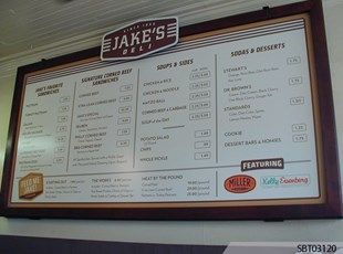 Custom Menu Board Wall Frame