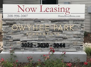 Now Leasing Monument Sign for Apartments