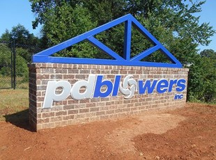 Monument Sign For PD Blowers