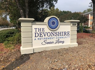 Monument Sign for Retirement Senior Living Community