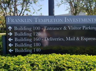 Property Management Exterior Wayfinding Monument Sign