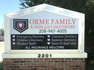 Monument Sign for Family Dentistry