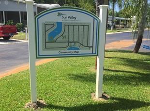 Directory sign Tarpon Springs