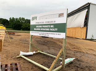 Temporary Post and Panel Sign for BPI