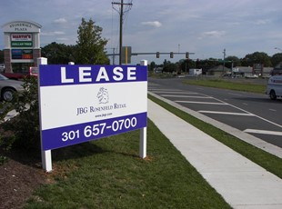 Lease Post and Panel Sign by Road