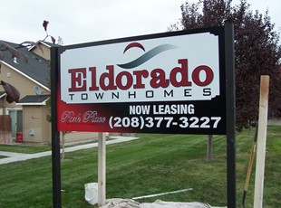 Eldorado Post and Panel Sign