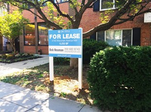 Real Estate Post and Panel For Lease Sign