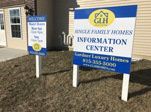 Real Estate Housing Development Post and Panel Signs