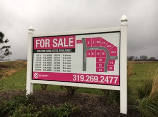 Real Estate For Sale Post and Panel Sign for New Homes