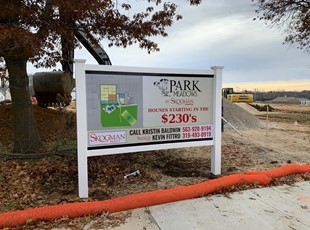 Real Estate Post and Panel Sign for Homes