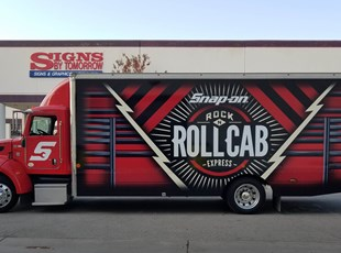 Truck Wrap for Rock n Roll Cab Express