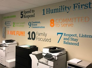 3D Lettering with Corporate Brand Core Values
